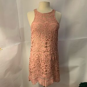 Lovers and friends blush lace dress